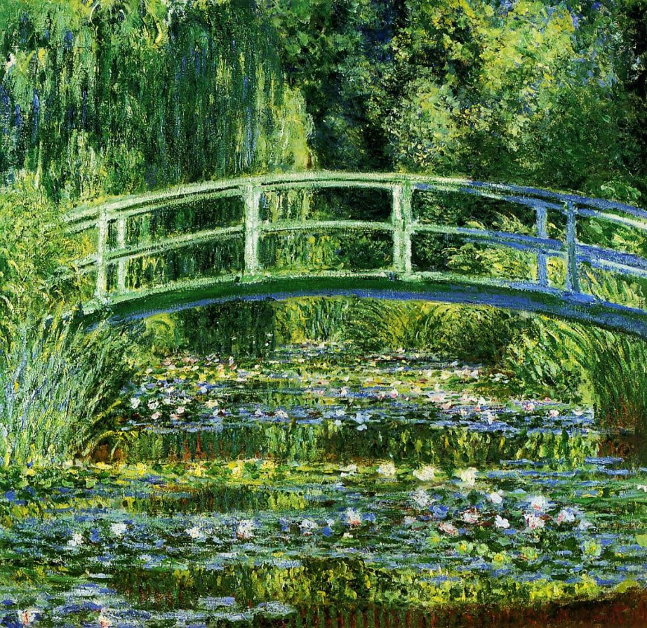 shake2shock_lisa_Claude Monet_The Water Lily Pond (The Japanese Bridge), 1899