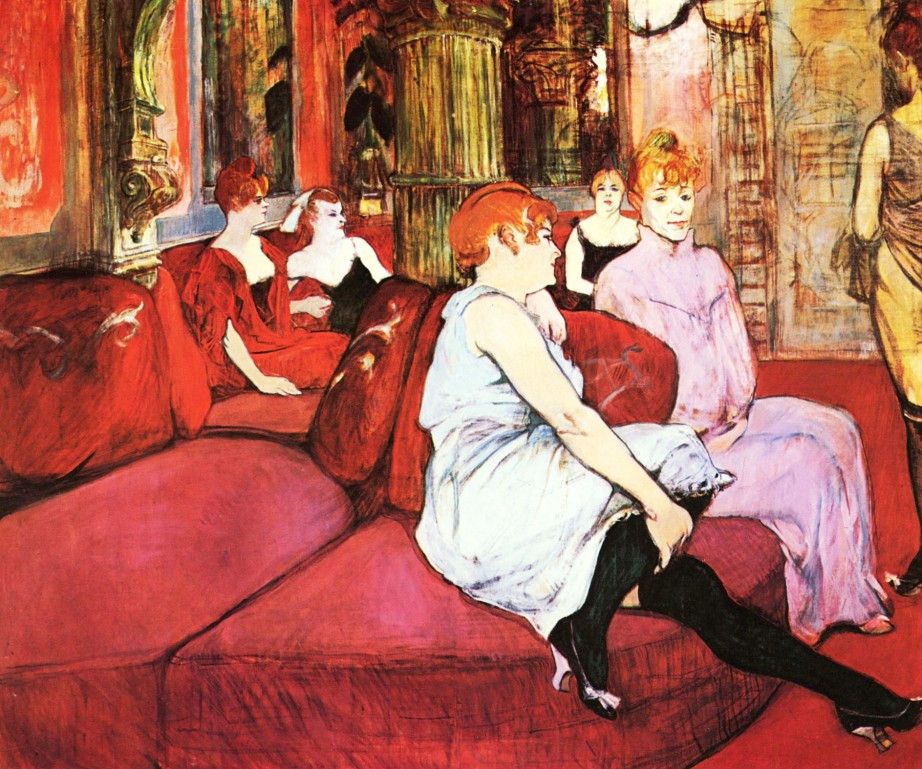 shake2shock_lisa_toulouse lautrec The Salon de la Rue des Moulins Au Salon de la rue des Moulins 1894
